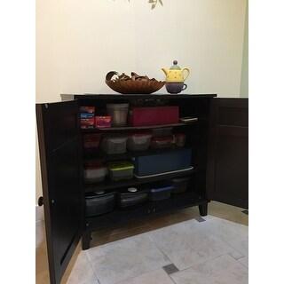 Baxton Studio Glidden Dark Brown Wood Multi-use Cabinet