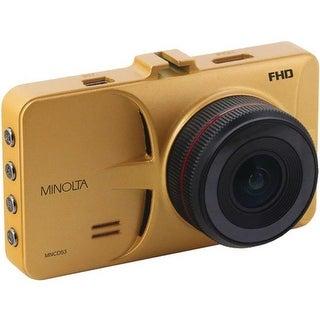 Minolta MNCD53-GD 12MP 1080P Full HD Car Camcorder, Gold