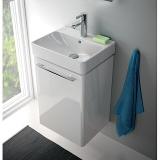 "Bissonnet Smyle 45 Vanity Smyle 17-7/10"" Wall Mounted Vanity Set with Engineered"