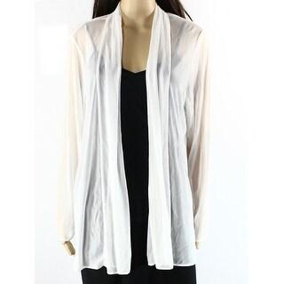 MSK NEW White Ivory Sheer Long Women's Size XL Open-Front Jacket