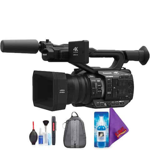 Panasonic AG-UX90 4K/HD Professional Camcorder + Pro Accessories Bundle