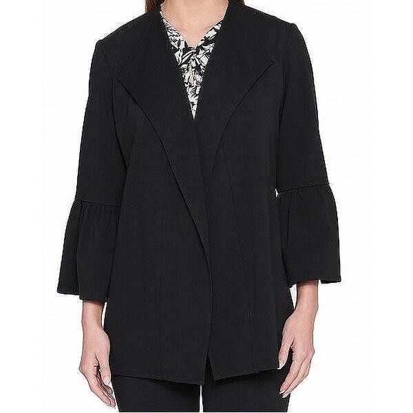 Tommy Hilfiger Womens Tulip-Sleeve Ponte-Knit Jacket