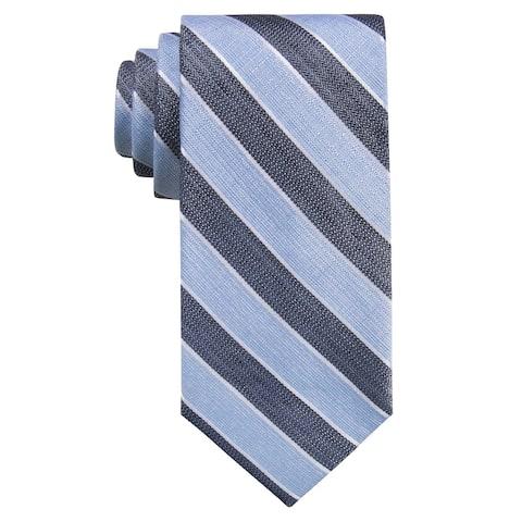 Ryan Seacrest Distinction Men's Seville Seasonal Stripe Slim Tie Blue Size Regular