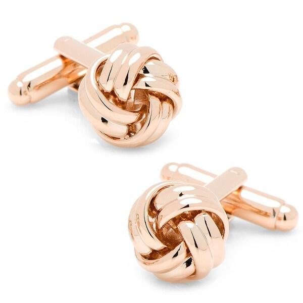 Rose Gold Knot Cufflinks