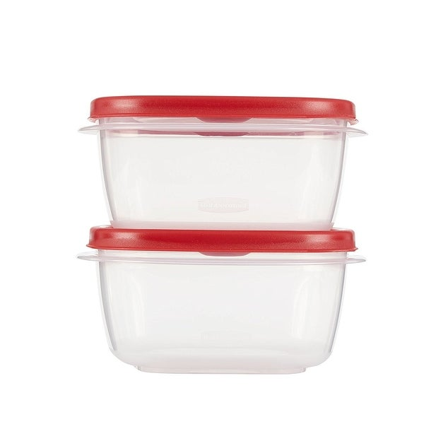 Rubbermaid Take Alongs 4-Piece Food Storage Container Set, Red (5 Cup)