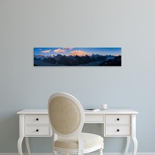 Easy Art Prints Panoramic Image 'Mountains, Mt Everest, Lhotse, Dudh Kosi, Solukhumbu, Himalayas, Nepal' Canvas Art