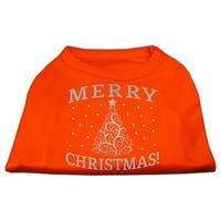 Shimmer Christmas Tree Pet Shirt Orange XS (8)
