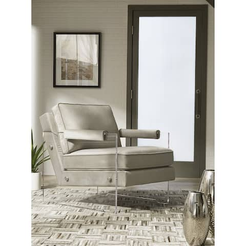 """Avonley Contemporary Modern Taupe Accent Chair - 30""""W x 37""""D x 33""""H"""