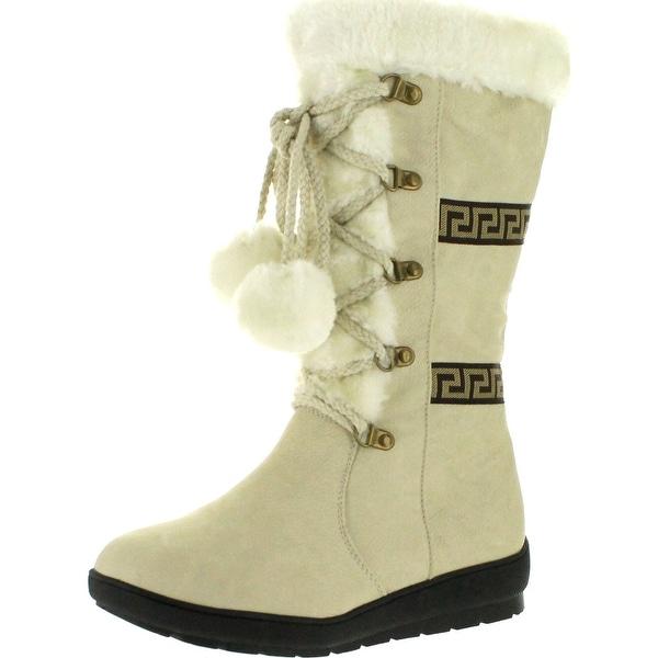 Reneeze Womens Coco-1 Flat Heel Mid-Calf Boot
