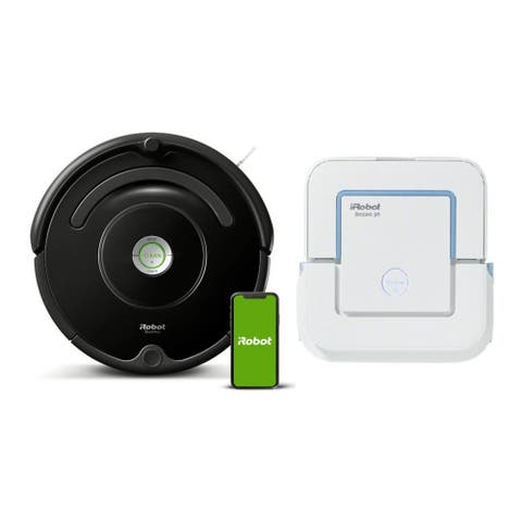 iRobot Roomba 675 Wi-Fi Robot Vacuum Cleaner with Wet Jet Mop Bundle