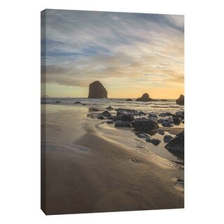 "PTM Images 9-108816  PTM Canvas Collection 10"" x 8"" - ""Canon Beach"" Giclee Waves Art Print on Canvas"