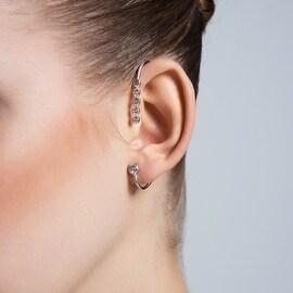 Amorium Magnolia Ear Cuff in Sterling Silver
