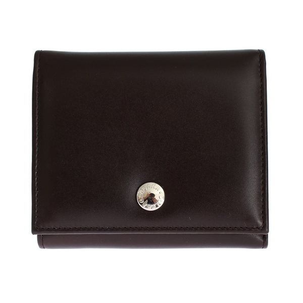 Dolce & Gabbana Brown Leather Trifold Wallet - One size