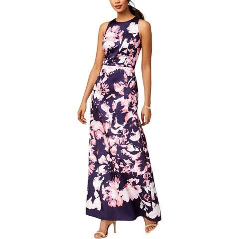 e62ee9a0585 SLNY Womens Evening Dress Satin Floral Print