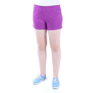 Womens Purple Cropped Active Wear Short Size XS