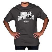 Harley-Davidson Men's Stoned Chest Pocket Short Sleeve Tee - Charcoal Gray