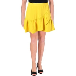 Essentiel Womens Ruffled Mini Tulip Skirt