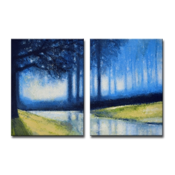 'Crystal Creek' 2 Piece Wrapped Canvas Wall Art Set by Norman Wyatt Jr.. Opens flyout.