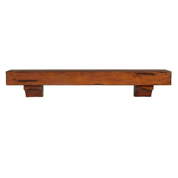 "60"" Mahogany Brown Shenandoah Wood Shelf or Mantle Shelf - N/A"