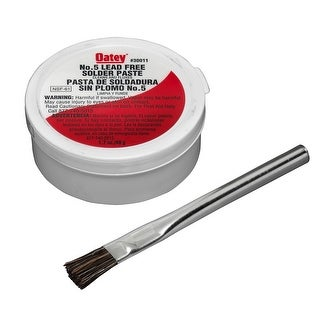 Oatey 53017 No. 5 Lead-Free Paste Flux With Brush 1.7 Oz, Amber