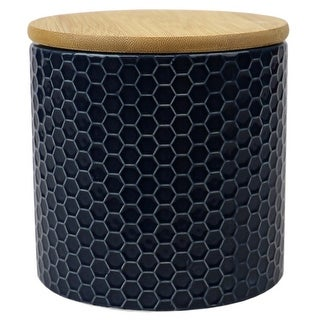 Link to Honeycomb Small Ceramic Canister, Navy Similar Items in Kitchen Storage