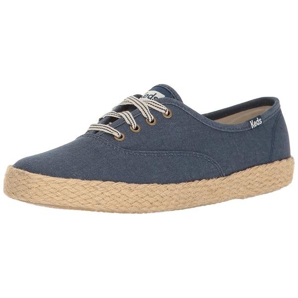 Keds Womens Champion Salt Wash Canvas Jute Canvas Low Top Lace Up Fashion Sne...