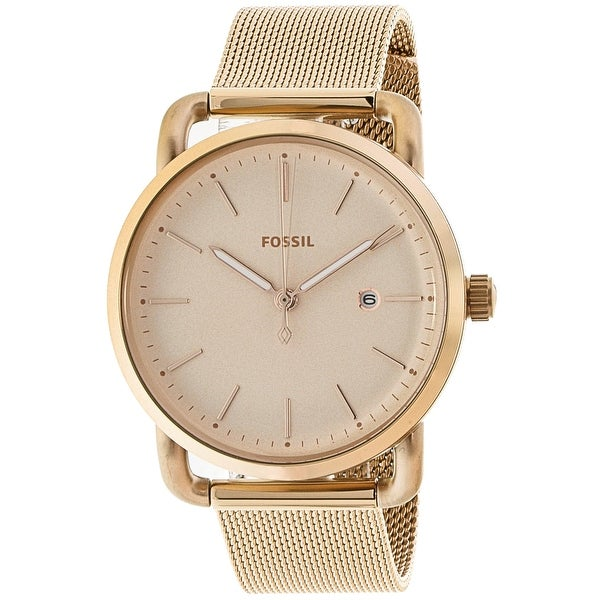 c3dcad5f8 Shop Fossil Women's The Commuter Rose-Gold Stainless-Steel Fashion Watch -  Free Shipping Today - Overstock - 19456882