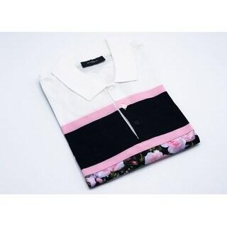 Givenchy Men's White Multicolor Printed Polo Shirt
