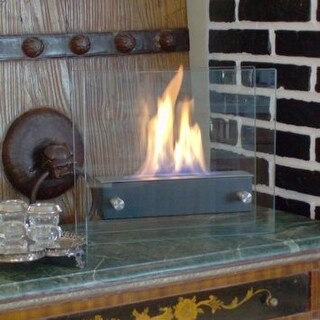 Nu-Flame NF-T2BIRA Irradia Noir Tabletop Bio-Ethanol Fireplace