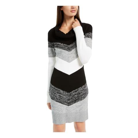 BCX Black Long Sleeve Above The Knee Sheath Dress Size XL