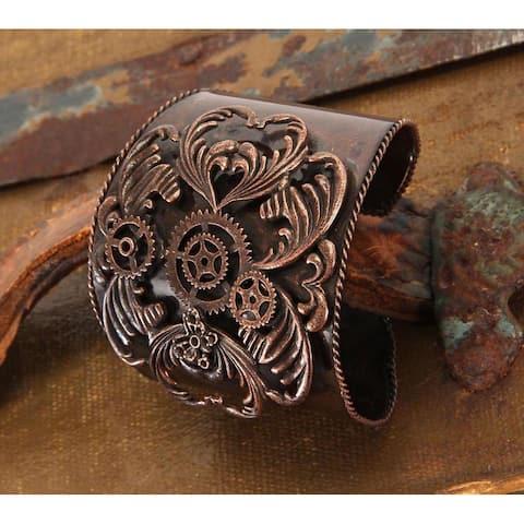 Steampunk Antique Copper Costume Jewelry Cuff Adult - Silver
