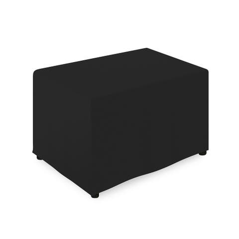 """1-Count 4' Fitted Tablecloth for Rectangular Table - 48"""" x 24"""" - Black"""