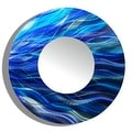 Statements2000 Blue Abstract Metal Wall Mirror Art Accent Decor by Jon Allen - Mirror 111 - Thumbnail 0