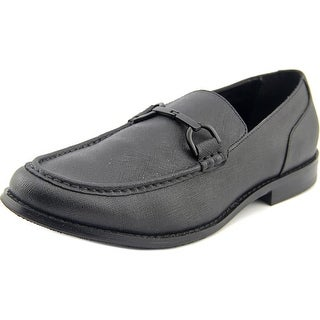 Kenneth Cole Reaction Lead On Men  Round Toe Leather Black Loafer