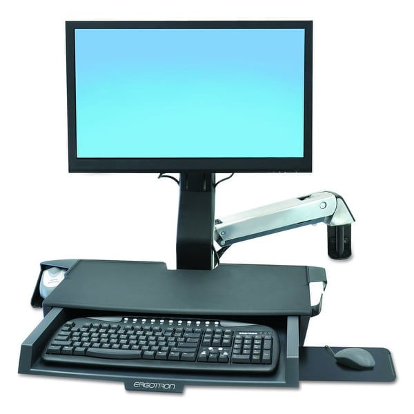Ergotron 45-260-026 Styleview Sit-Stand Combo Arm With Worksurface