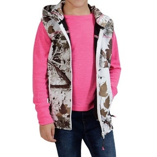 Roper Western Vest Girls Zipper Pockets Hooded 03-298-0691-0622 WH