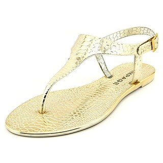 Rampage Oliver Women Open Toe Synthetic Gold Thong Sandal