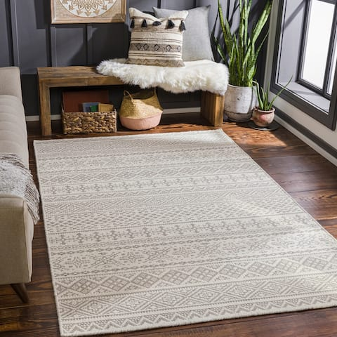 Shobha Handmade Wool Boho Area Rug