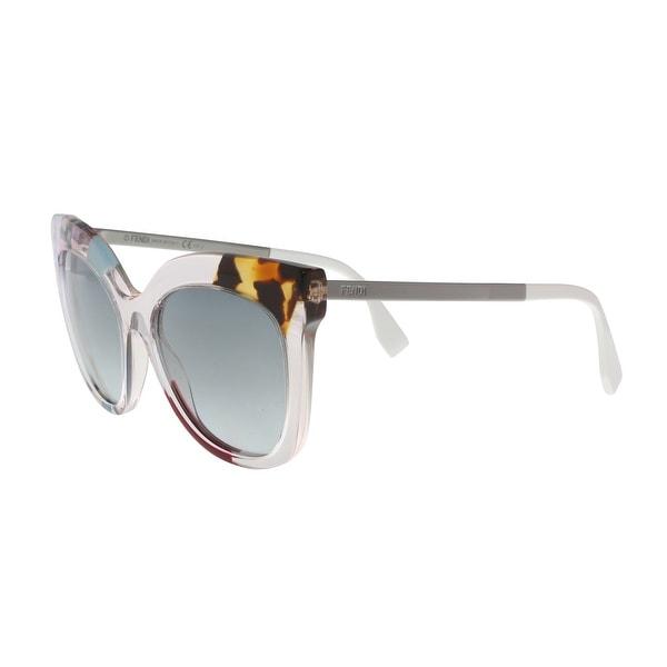 ef27b3bb121 Shop FENDI FF 0179 S 0TKU Light Pink Square Sunglasses - Multi - no ...