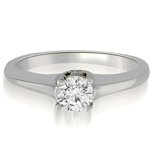 0.53 cttw. 14K White Gold Round Cut Diamond Engagement Ring Solitaire