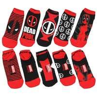 Marvel Deadpool 5 Pack Ankle Socks