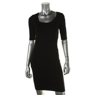 Diane Von Furstenberg Womens Raquel Elbow Sleeves Mini Casual Dress