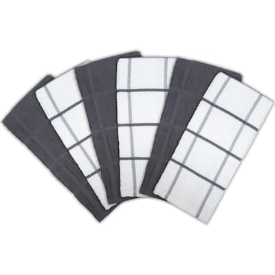 Arkwright Kitchen Towels Windowpane Pattern (6-Pack) - 15 x 25 in.