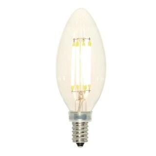 Westinghouse 3517100 Single 4 Watt Clear Vintage Edison Dimmable B11 Candelabra