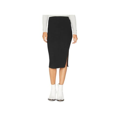 Sanctuary Womens Pencil Skirt Ribbed Side Slit