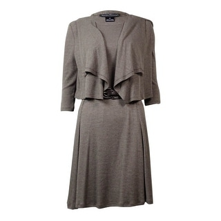 Jessica Howard Women's 2 PC Draped Jacket Belted Dress - 4P