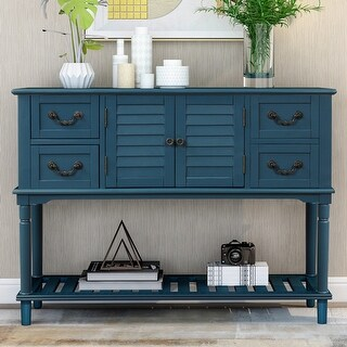 Link to Console Table with Shutter Doors and 4 Drawers Similar Items in Living Room Furniture