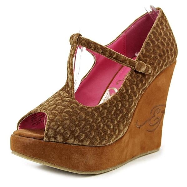 9101eb7ce9 Shop Ed Hardy Marion Women Open Toe Canvas Wedge Heel - Free ...