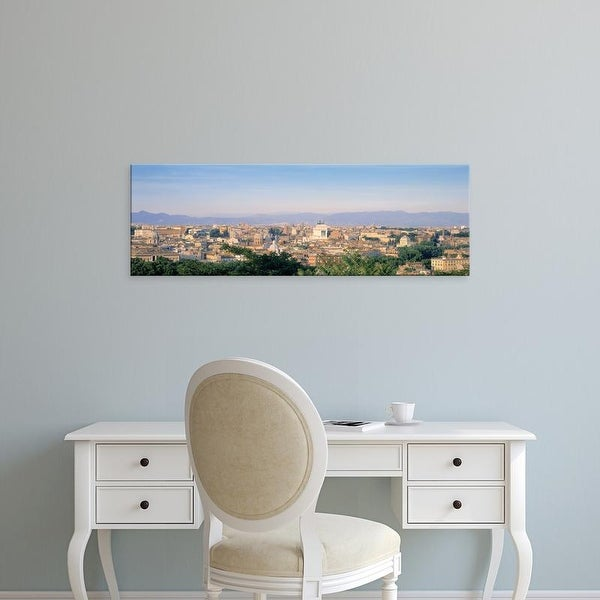 Easy Art Prints Panoramic Images's 'High angle view of a city, Rome, Italy' Premium Canvas Art