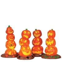 Light Up Pumpkin Stacks